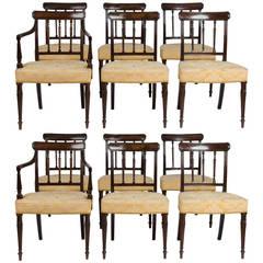 Set of 12 Georgian Mahogany Dining Chairs