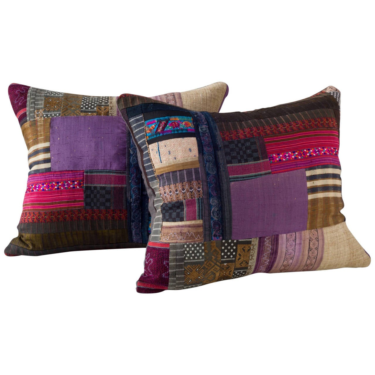 Piecework Embroidery Cushion For Sale at 1stdibs