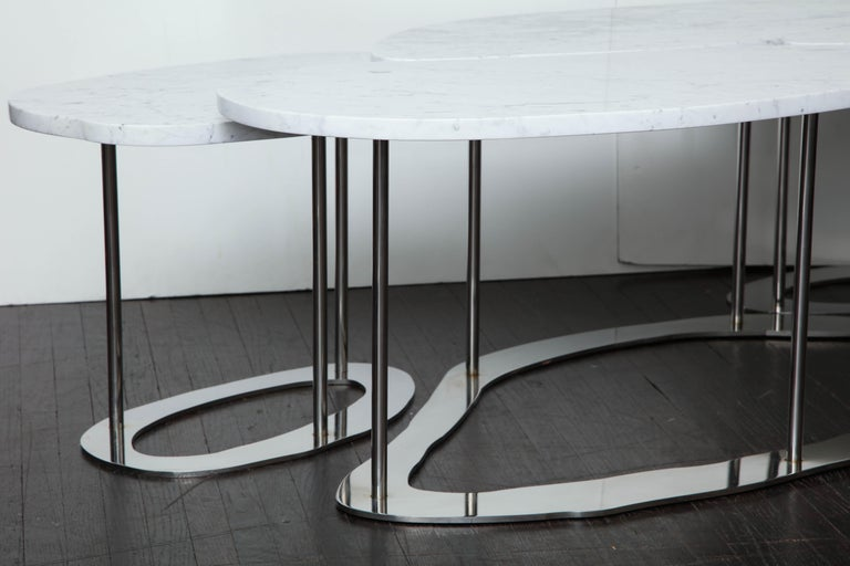 Organic Freeform Marble Cocktail Table For Sale 2