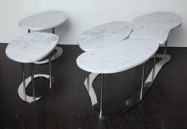 Organic Freeform Marble Cocktail Table For Sale 3