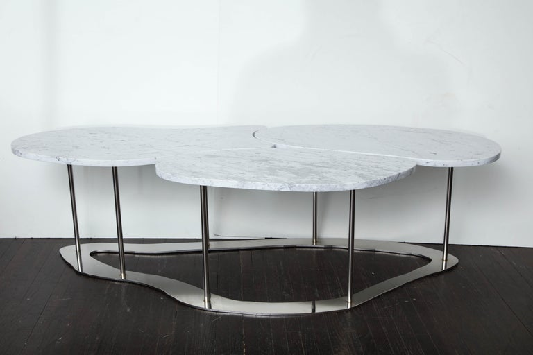 Organic Freeform Marble Cocktail Table For Sale 5