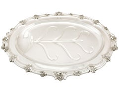 Antique Victorian Sterling Silver and Sheffield Plate Venison Dish