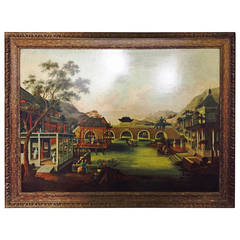 18th Century Chinese School Oil Painting
