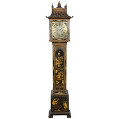 Chinoiserie Lacquer Chippendale style Grandmother Clock