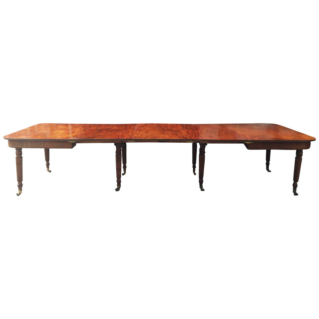 Gillows Influenced Regency Extending Dining Table For Sale At 1stdibs