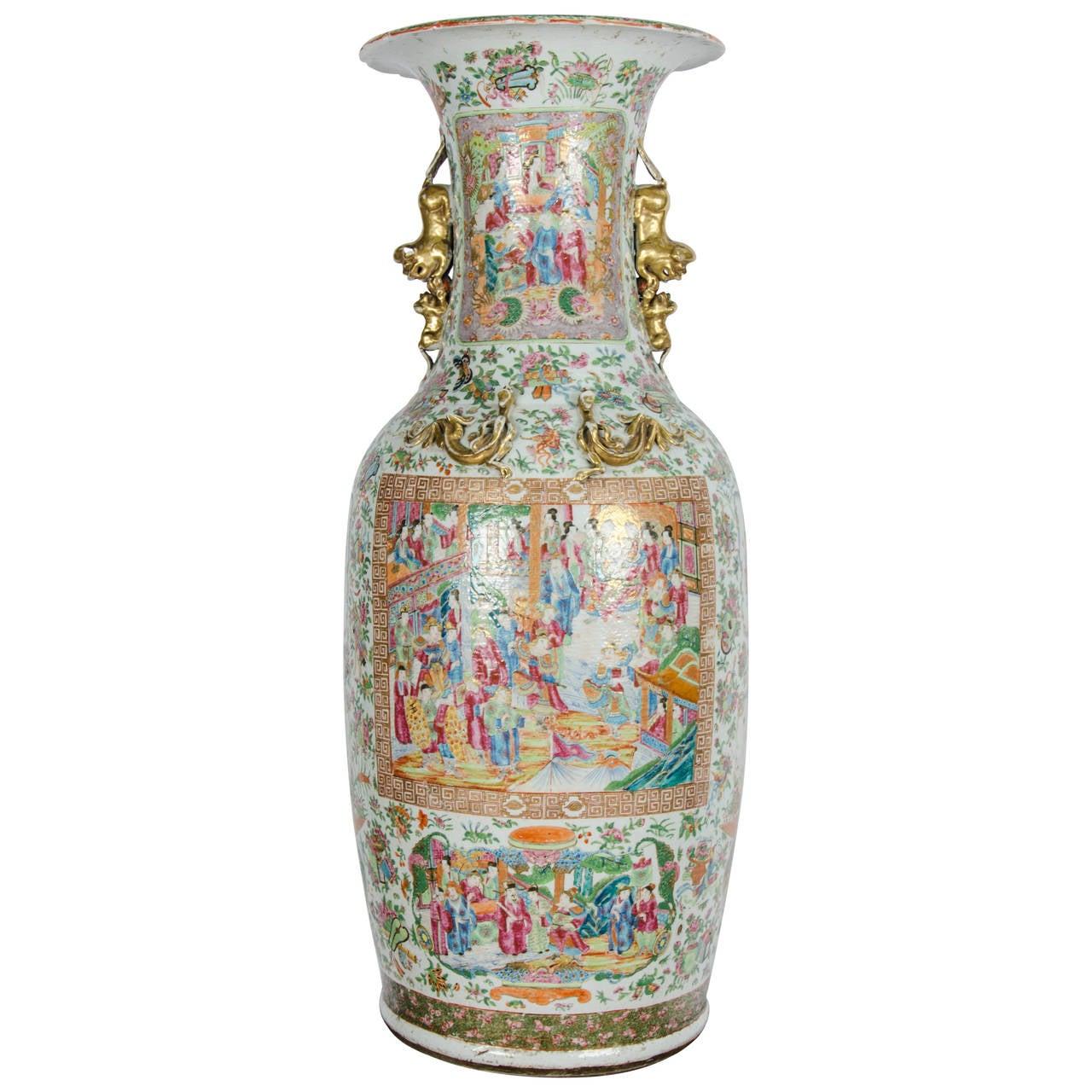 Large 19th century chinese rose medallion vase on stand for sale large 19th century chinese rose medallion vase on stand for sale reviewsmspy