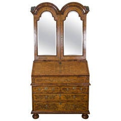 Queen Anne Period Bureau Bookcase