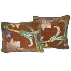 Pair of Antique Florentine Pillows