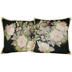 Pair of French Needlepoint Pillows, circa 1880