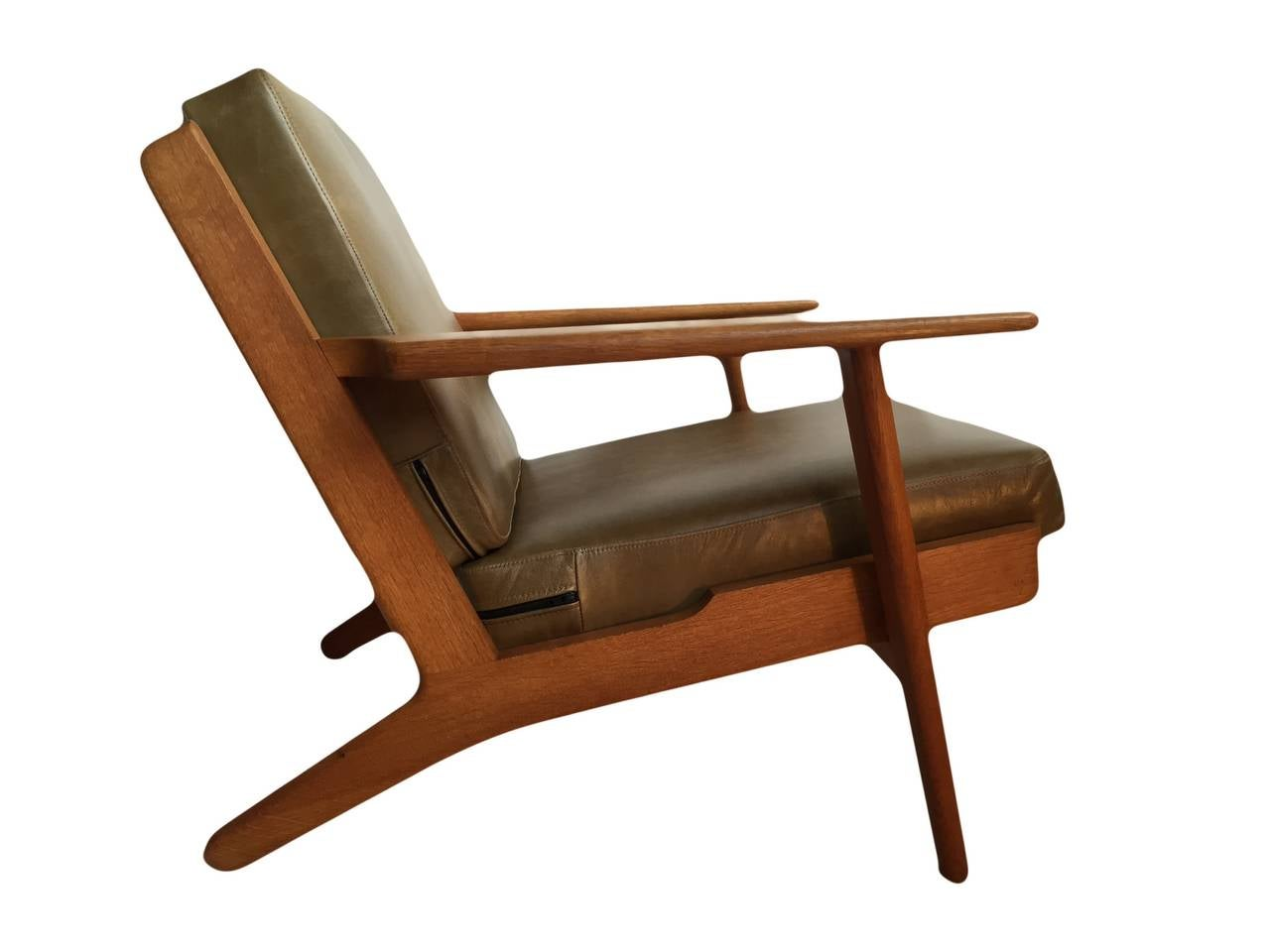 hans j wegner original getama ge290 plank chair at 1stdibs. Black Bedroom Furniture Sets. Home Design Ideas