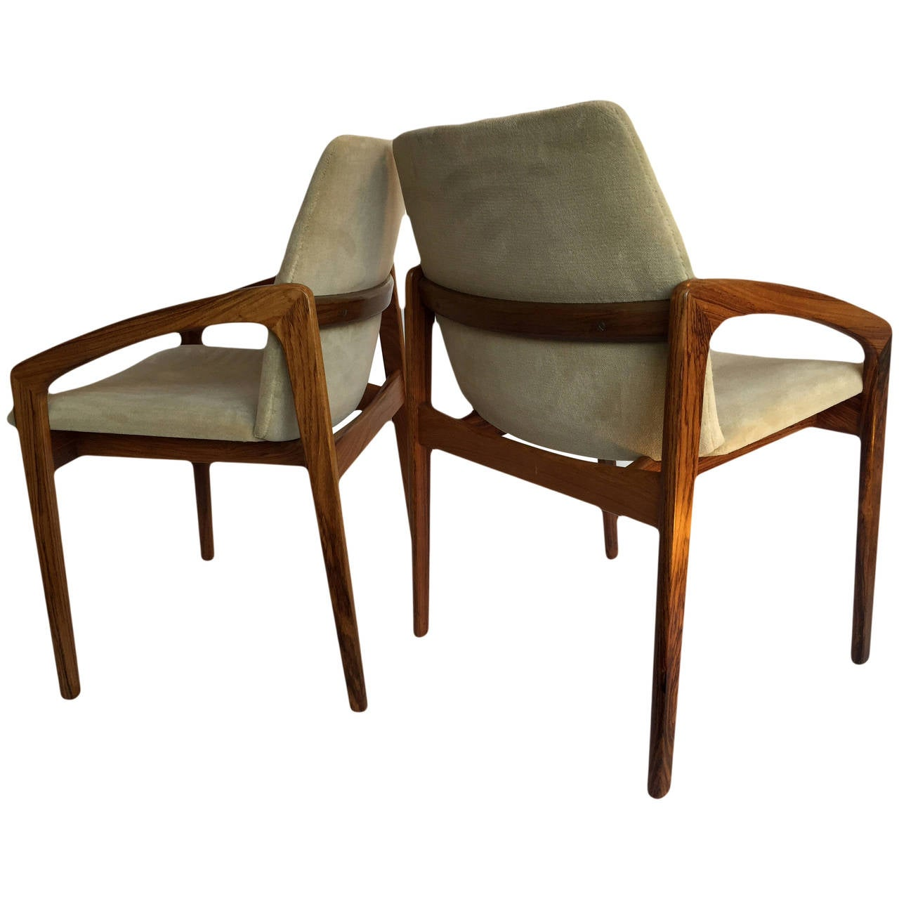 Kai kristiansen rosewood dining chairs set of 4 at 1stdibs - Kai kristiansen chairs ...