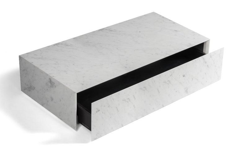 For Sale: White (Bianco Carrara) Salvatori Ciane Floating Drawer by Elisa Ossino 2