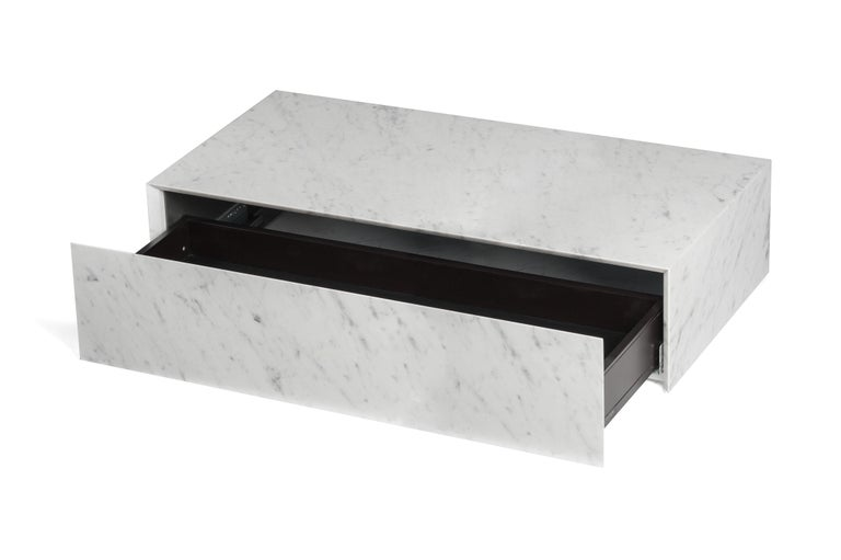For Sale: White (Bianco Carrara) Salvatori Ciane Floating Drawer by Elisa Ossino 3