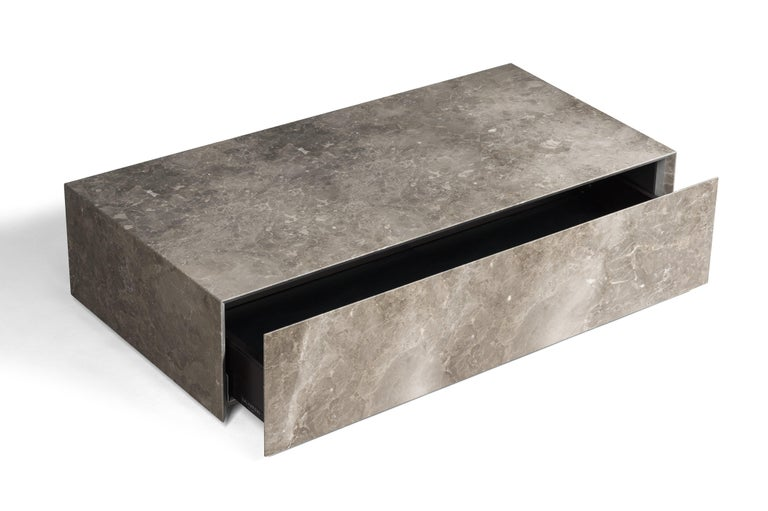 For Sale: Gray (Gris du Marais) Salvatori Ciane Floating Drawer by Elisa Ossino 2