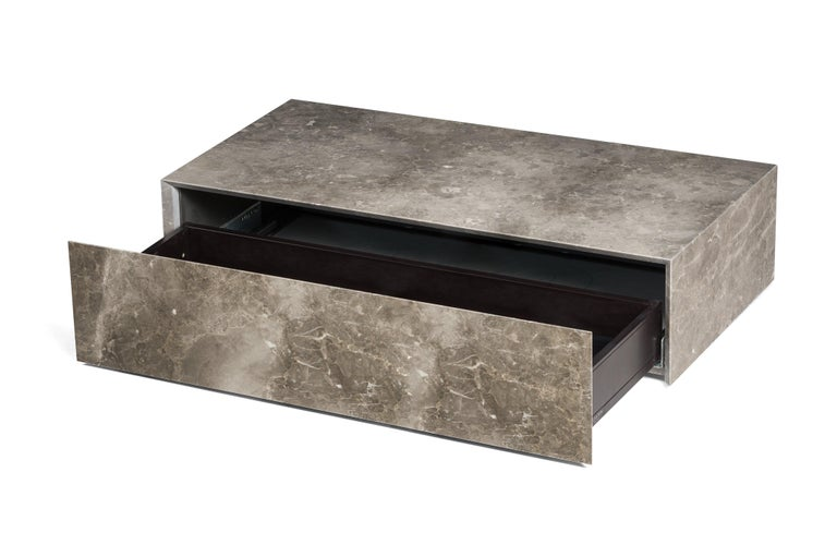 For Sale: Gray (Gris du Marais) Salvatori Ciane Floating Drawer by Elisa Ossino 3