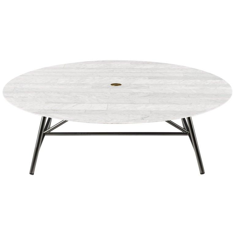 For Sale: White (Bianco Carrara) Salvatori Large W Round Coffee Table