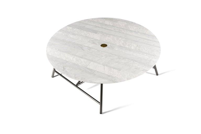 For Sale: White (Bianco Carrara) Salvatori Large W Round Coffee Table 2