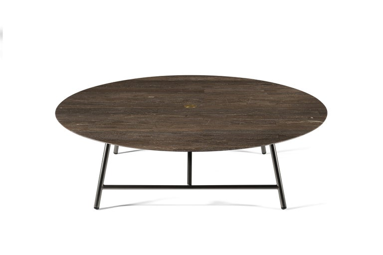 For Sale: Brown (Pietra d'Avola) Salvatori Large W Round Coffee Table 2