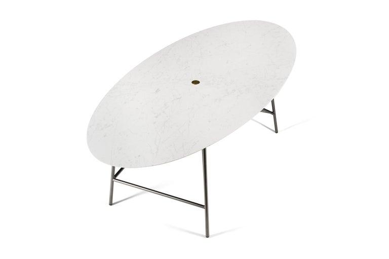 For Sale: White (Bianco Carrara) Salvatori Medium W Oval Dining Table 2