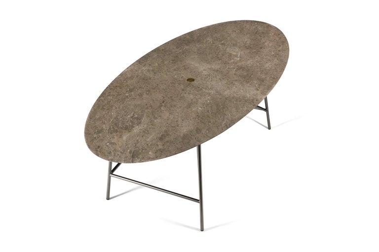 For Sale: Gray (Gris du Marais) Salvatori Medium W Oval Dining Table 2