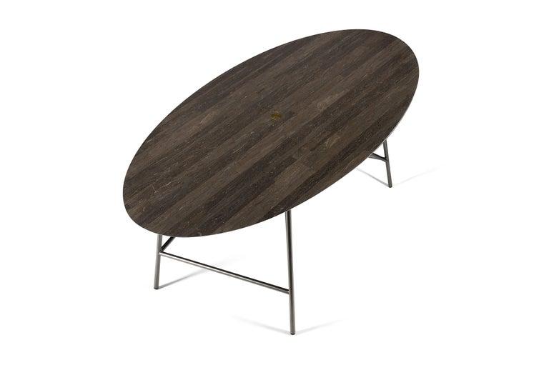 For Sale: Brown (Pietra d'Avola) Salvatori Medium W Oval Dining Table 2