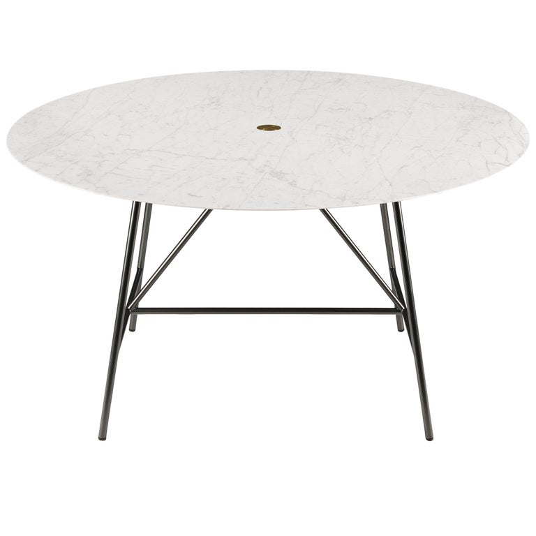 For Sale: White (Bianco Carrara) Salvatori Medium W Round Dining Table