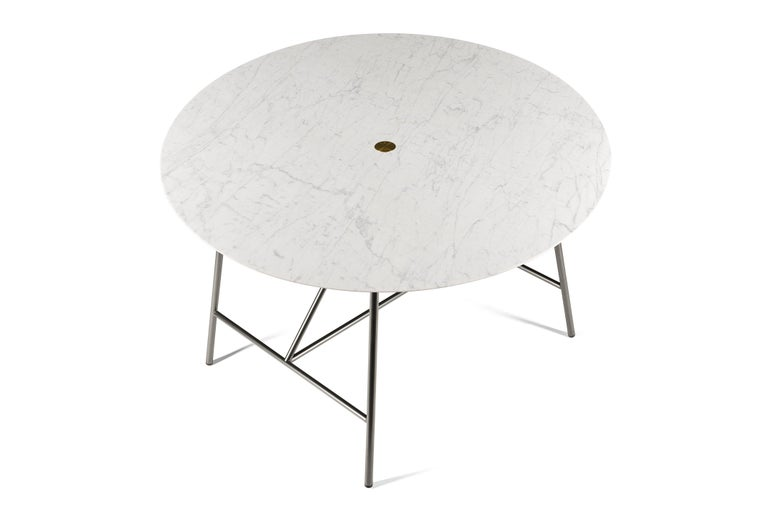 For Sale: White (Bianco Carrara) Salvatori Medium W Round Dining Table 2