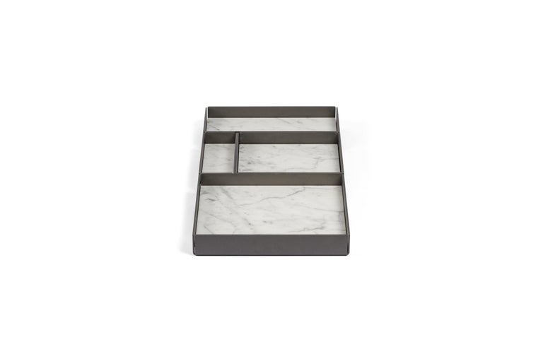 For Sale: White (Bianco Carrara) Salvatori Set of Fontane Bianche Modular Trays by Elisa Ossino 6