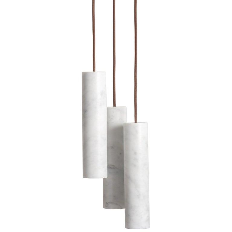 For Sale: White (Bianco Carrara) Salvatori Silo Cluster Pendant Light by David Lopez Quincoces