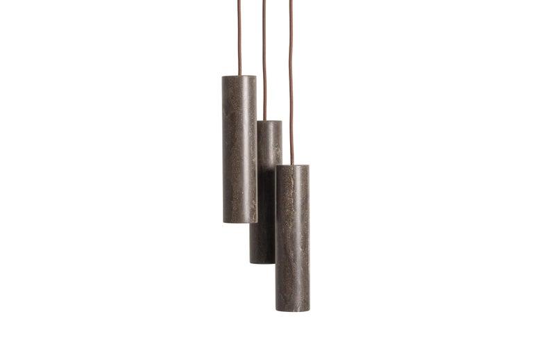 For Sale: Brown (Pietra d'Avola) Salvatori Silo Single Pendant Light by David Lopez Quincoces 3