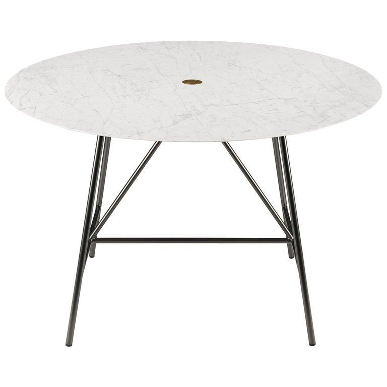 For Sale: White (Bianco Carrara) Salvatori Small W Round Dining Table