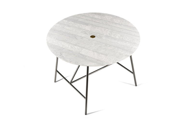 For Sale: White (Bianco Carrara) Salvatori Small W Round Dining Table 2