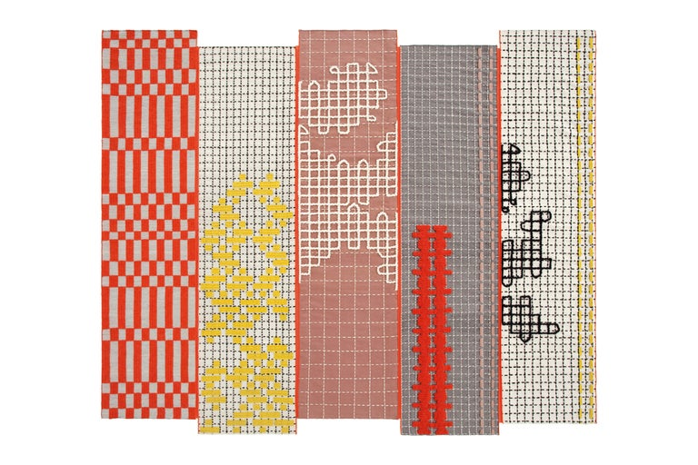 For Sale: undefined (Orange)  Patricia Urquiola Bandas Large Rug for GAN