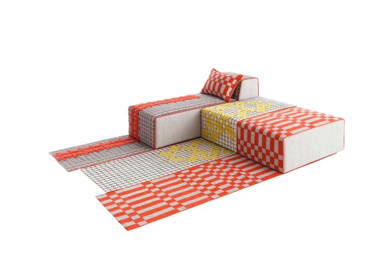 For Sale: undefined (Orange)  Patricia Urquiola Bandas Large Rug for GAN 3
