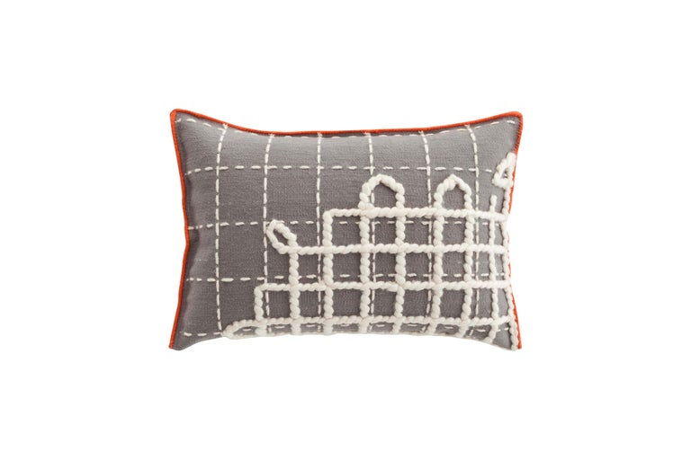 For Sale: undefined (Gray)  Patricia Urquiola Bandas Pillow for GAN