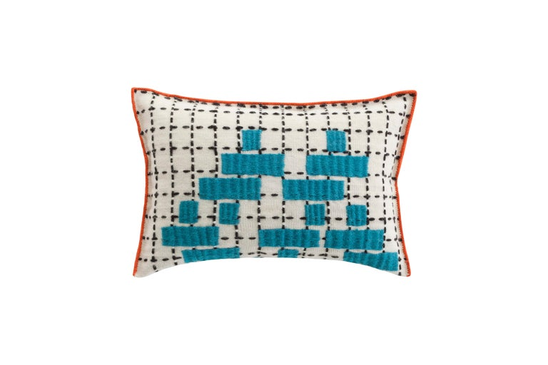For Sale: undefined (Blue)  Patricia Urquiola Bandas Pillow for GAN