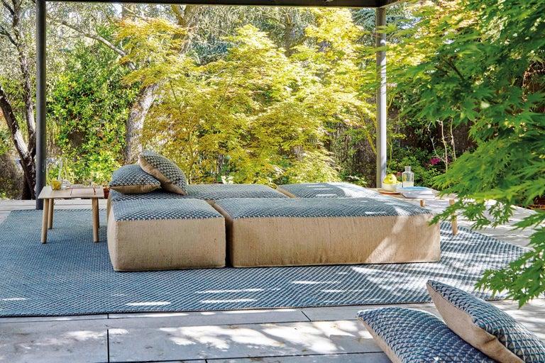 For Sale: undefined (Blue) GAN Raw Large Pillow in Jute by Borja García 3