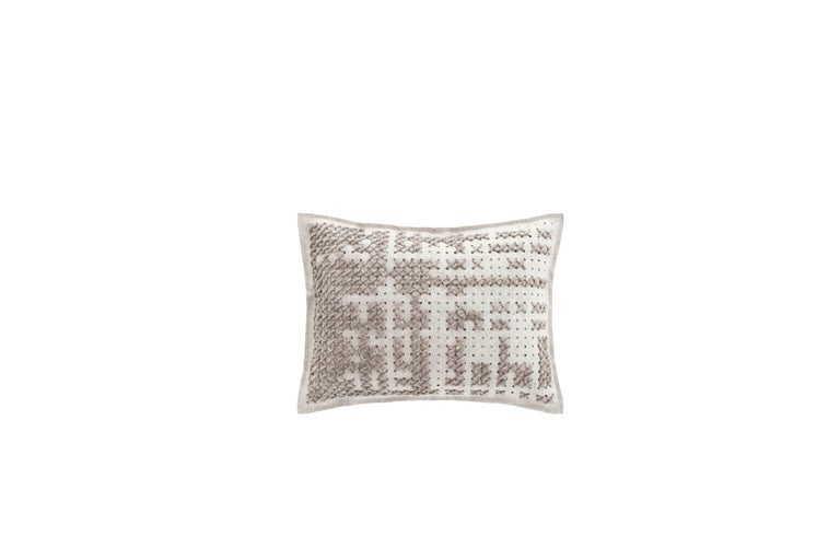 For Sale: undefined (Silver) GAN Canevas Abstract Large Pillow by Charlotte Lancelot