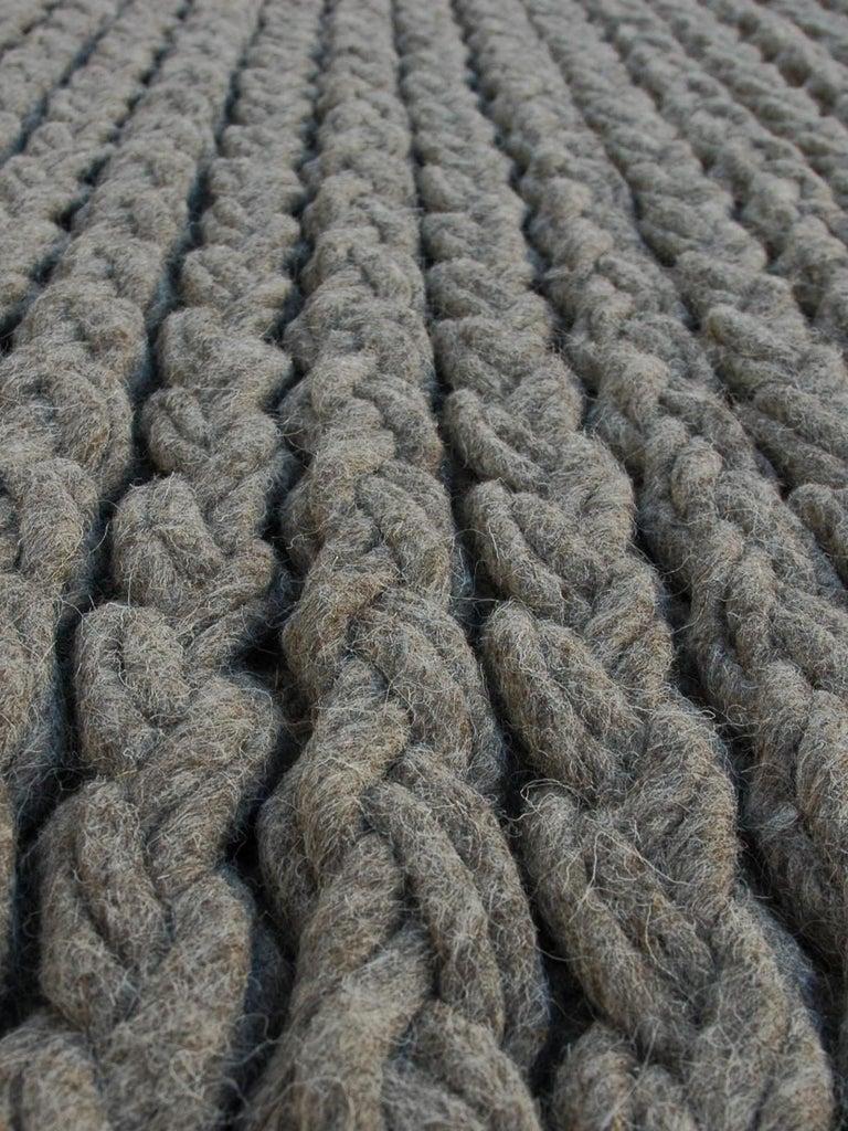 For Sale: undefined (Beige) GAN Trenzas Pillow in Braided Wool 2