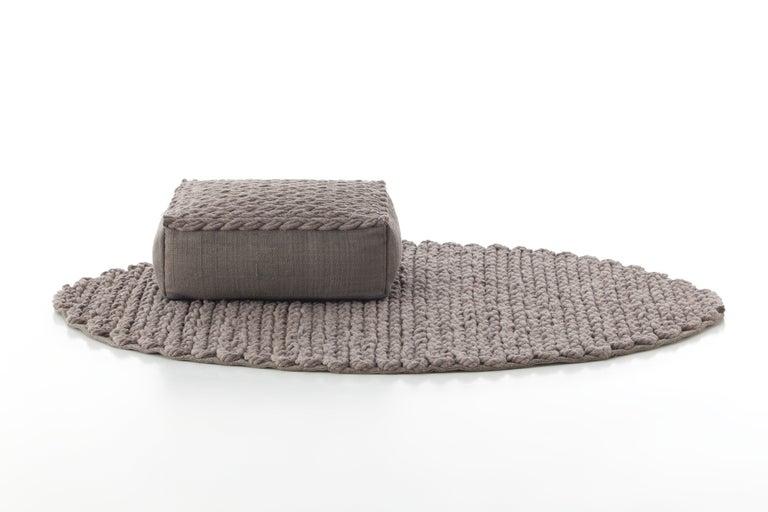 For Sale: undefined (Beige) GAN Trenzas Pillow in Braided Wool 3