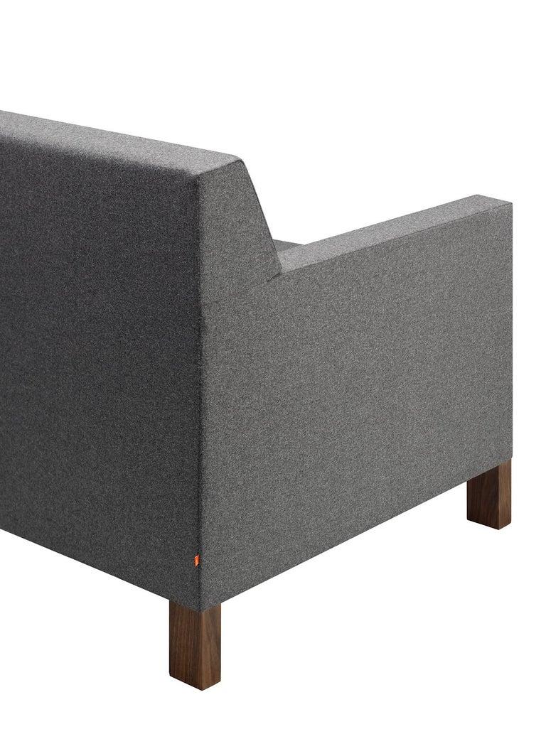 For Sale: Gray (Stone Lama) e15 Weissenhof Lounge Chair with Walnut Waxed Base by Ferdinand Kramer 3