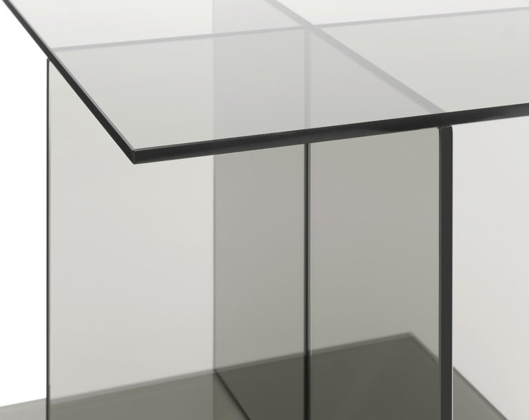 For Sale: Gray (Smoke Gray) e15 Vier Side Table by Philipp Mainzer 2