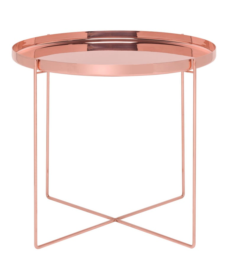 For Sale: Pink (Copper) e15 Habibi Short Side Table by Philipp Mainzer