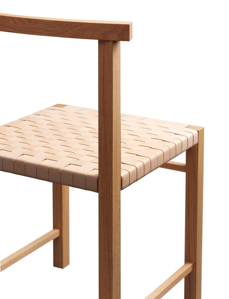 For Sale: Gray (Silk Gray Lacquer) e15 Karnak Chair with European Oak Base by Ferdinand Kramer 4