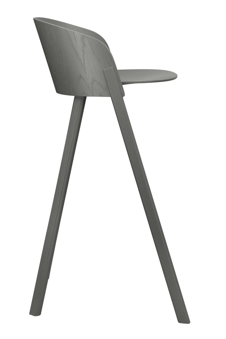 For Sale: Gray (Umbra Gray Lacquer) e15 Other Stool by Stefan Diez 2
