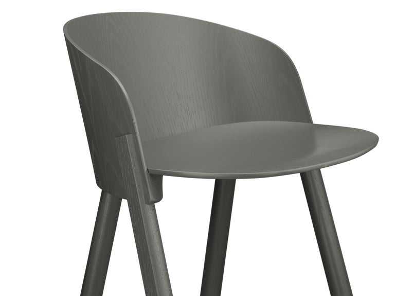 For Sale: Gray (Umbra Gray Lacquer) e15 Other Stool by Stefan Diez 3