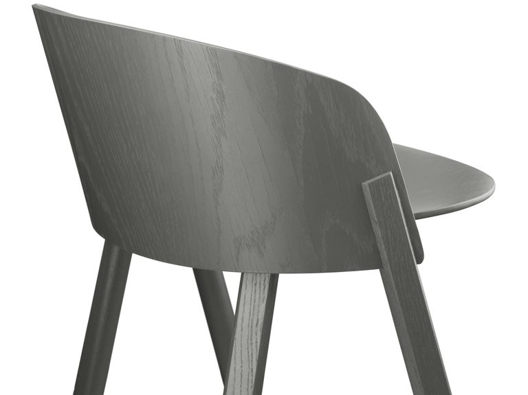 For Sale: Gray (Umbra Gray Lacquer) e15 Other Stool by Stefan Diez 4