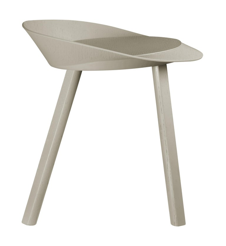 For Sale: Gray (Silk Gray Lacquer) e15 Mr. Collins Stool by Stefan Diez