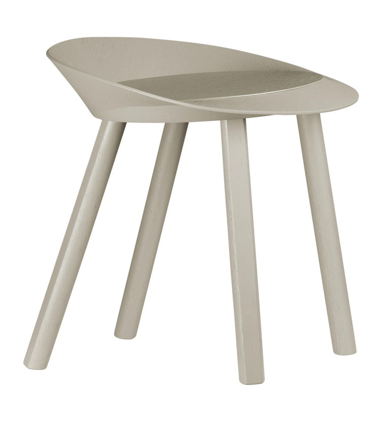 For Sale: Gray (Silk Gray Lacquer) e15 Mr. Collins Stool by Stefan Diez 2