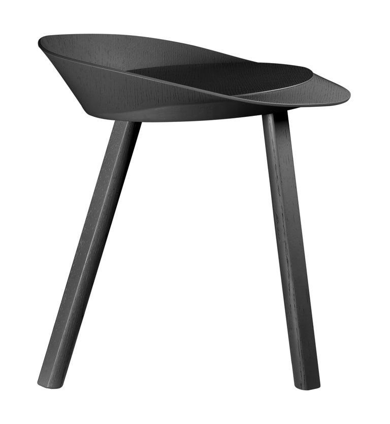For Sale: Black (Jet Black Lacquer) e15 Mr. Collins Stool by Stefan Diez